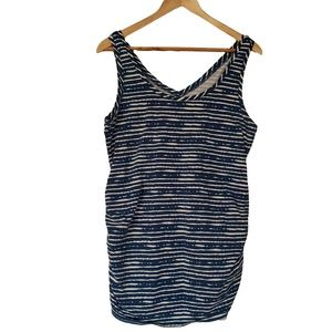 THYME MATERNITY Blue and White Stripe Tank M